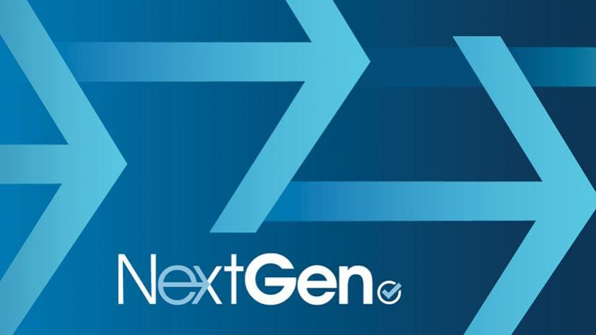 Abstract image of arrows and NextGen logo